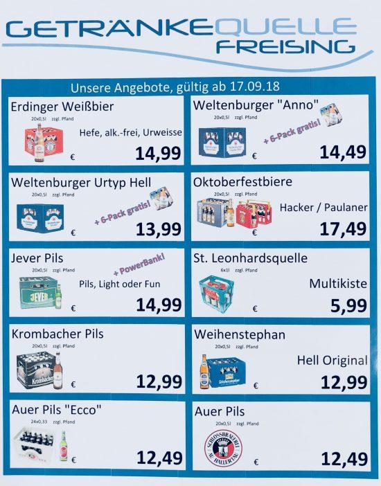Aktuelle Aktionen – Getränkequelle Freising